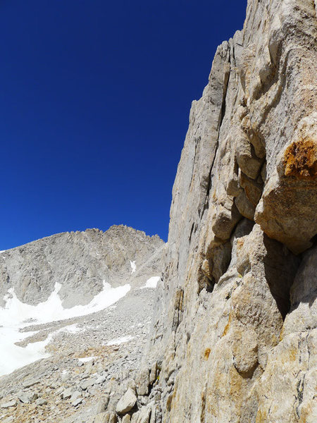 south side of the arete