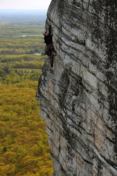 Rock Climbing Photo: Leading High E, photo by Lance Levine