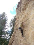 Rock Climbing Photo: Reggie climbs up Mary Jane, 5.11b. The Danks. Spea...