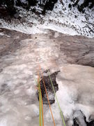 Rock Climbing Photo: Looking down the first pitch of Yellow Brick Road ...