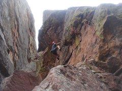 Rock Climbing Photo: Cory starts up New Cambria.