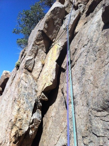 Rock Climbing Photo: Right facing corner at the start of Pitch 1.