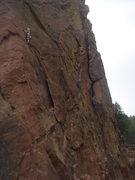 Rock Climbing Photo: Eva cruising P1 of Bastille Crack.