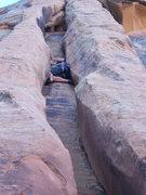 Rock Climbing Photo: gary up in it