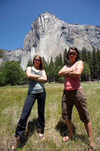 Rock Climbing Photo: Jes and Quinn after their Record Breaking speed as...