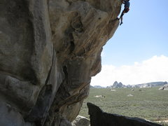 Rock Climbing Photo: Sending the Heretic...photo by my 6 year old, Luca...