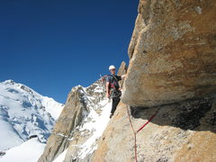 Rock Climbing Photo: Me starting the crux pitch!!! Awesome!!!