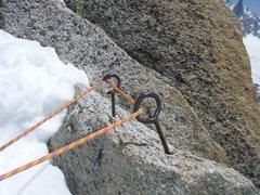 Rock Climbing Photo: Rap anchor at the top!