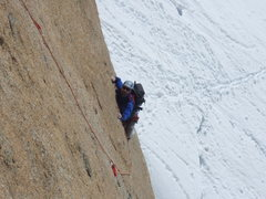 Rock Climbing Photo: Brian following the crux!