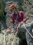 Rock Climbing Photo: Me managing the rappel station atop Der Zerkle