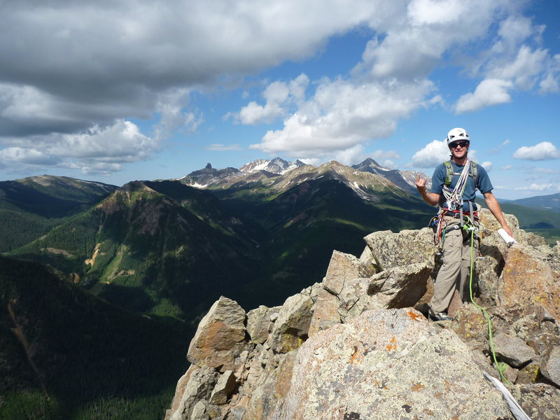 Rock Climbing Photo: Seldom climbed not so remote alpine summit.  Aweso...
