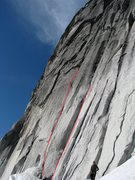 Rock Climbing Photo: The leftmost hand crack goes at 5.9+ and the right...