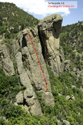 Rock Climbing Photo: Heart Rock Area overview showing Changing the Stri...
