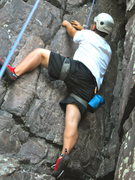 Rock Climbing Photo: Devils lake, Birthday Chimney
