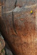 Rock Climbing Photo: Matthew Selman midway through the crux pitch of Ta...