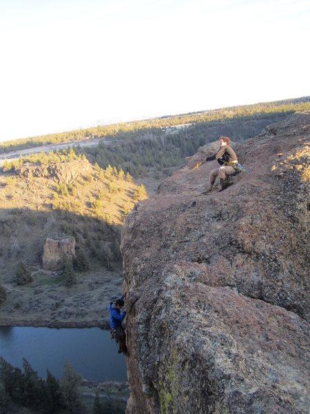 Rock Climbing Photo: Nate reeling up Ben