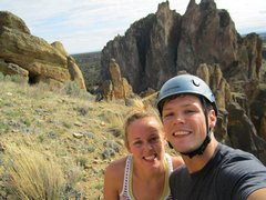 Rock Climbing Photo: Carin and I after Spiderman