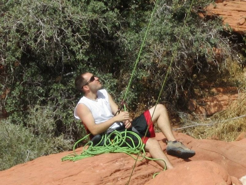 Rock Climbing Photo: the belay chair
