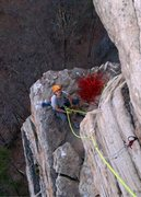 Rock Climbing Photo: At the belay on High Exposure, the Gunks NY