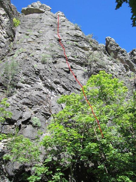 Rock Climbing Photo: Rain Delay Beta