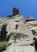 Rock Climbing Photo: Brenda works on her crack climbing technique on Il...
