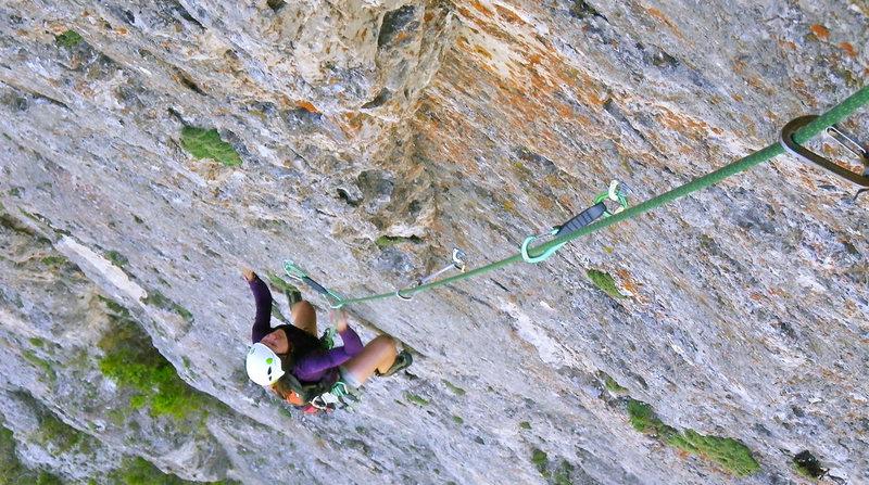 Rock Climbing Photo: Following up pitch 4 on Panthalassa.