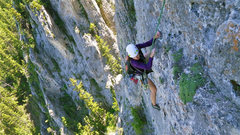 Rock Climbing Photo: Climbing the third pitch of Panthalassa on the eas...