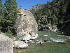 Rock Climbing Photo: The last half of ROAD TO NOWHERE, RIVERSIDE BOULDE...