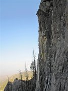 Rock Climbing Photo: Steve Brown onsighting Bone Spur.