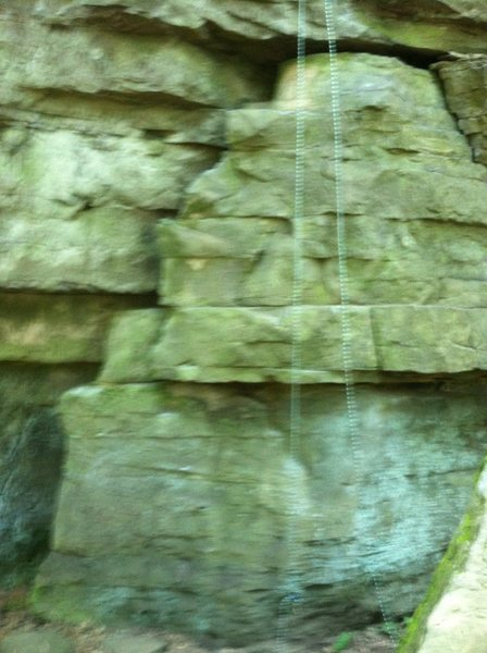 Rock Climbing Photo: ROTC Route On Rappel Rock At Rim Road Climbing Are...