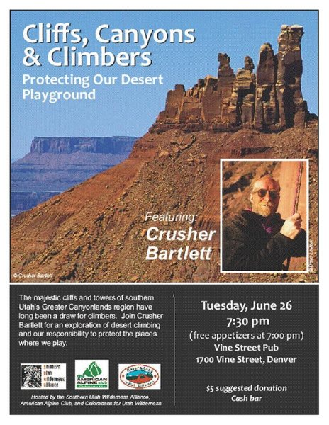 Rock Climbing Photo: Flyer for the event.