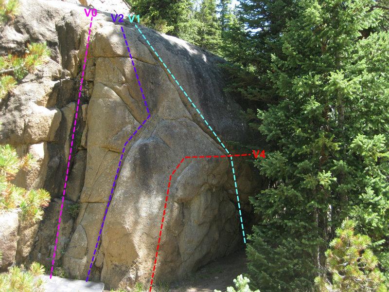 Rock Climbing Photo: The main Slab Rock Boulder.