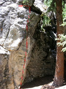 Rock Climbing Photo: American Hero, V3 highball classic.