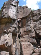 Rock Climbing Photo: Up the Big Dihedral!!