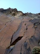 Rock Climbing Photo: A view of Central Scrutinizer from just past the l...