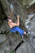 Rock Climbing Photo: Jakob around crux-time
