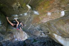 Rock Climbing Photo: Jeff leaving the lay down rest and getting ready f...