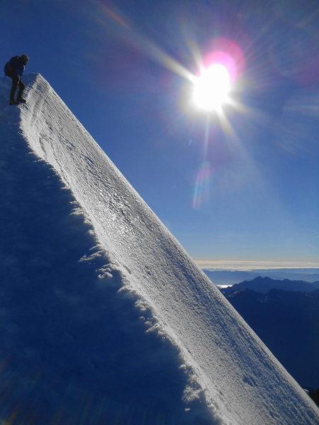 Rock Climbing Photo: Summit ridge of Mt. Aspiring