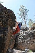 Rock Climbing Photo: The steep arete of Problem H