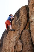 Rock Climbing Photo: High on Problem E