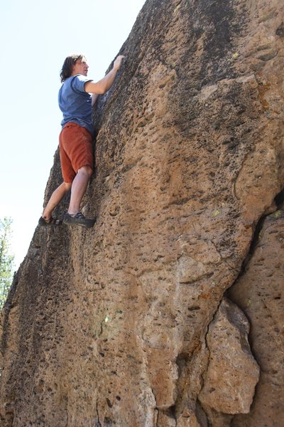 Rock Climbing Photo: Searching for the better finishing holds on Proble...
