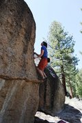 Rock Climbing Photo: Getting established on Problem A