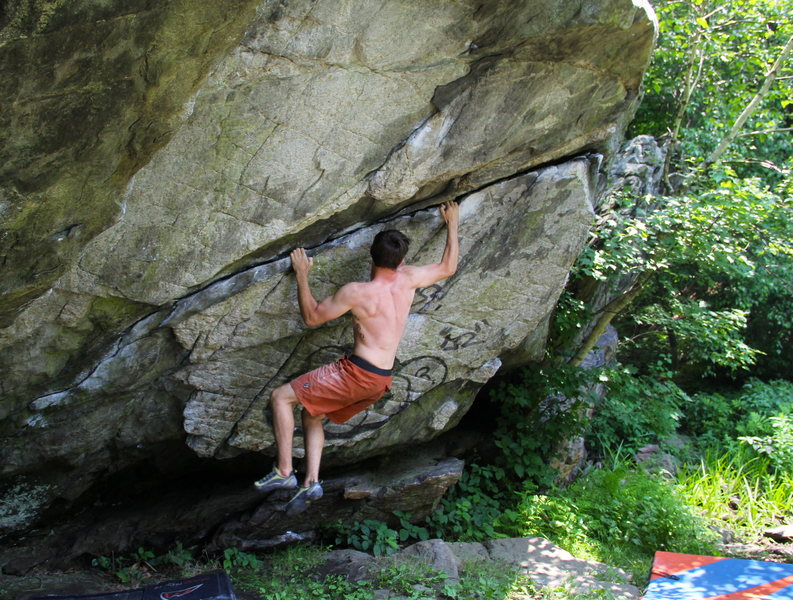 Rock Climbing Photo: I quickly realized it was easier to just not try u...