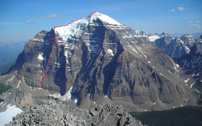 Rock Climbing Photo: The approximate line of ascent.