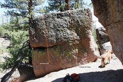 Rock Climbing Photo: Green Boulder West Face Topo