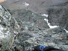 Rock Climbing Photo: Looking down from low on the route.