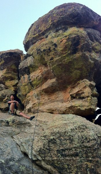 Rock Climbing Photo: Clifford Rylands demonstrating redpoint tactics.