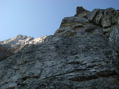 Rock Climbing Photo: We simulclimbed to here, then pitched out the rest...