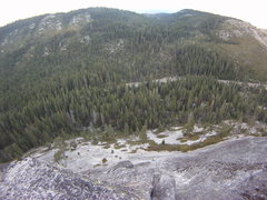 Rock Climbing Photo: View down the whole climb from the top belay. Bela...