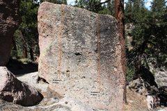 Rock Climbing Photo: Green Boulder South face Topo